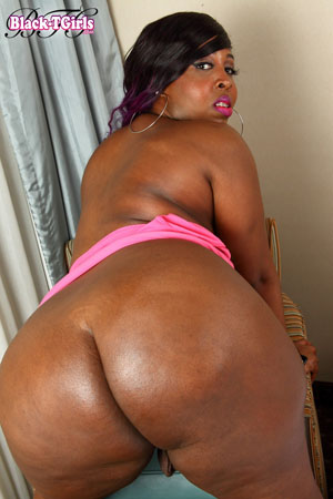 Big Black Ass Booty BBW Tranny