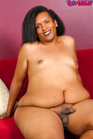 Big Fat Black BBW Shemale