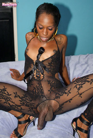 Ebony tranny monster cock