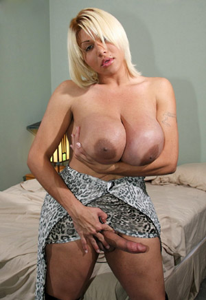 Shemale with Big Boobs and a Big Stiff Cock