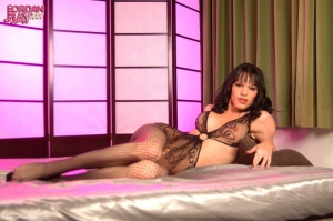 Hung TGirl in a Body Stocking