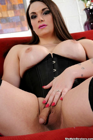 Big Tits Shaved Shemale