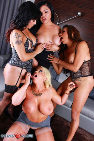 Big Tit Shemale Threesome