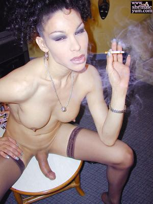 Smoking Shemale Fetish Porn
