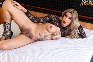Shemale Renata Sales Solo Tranny Dildo Fucking