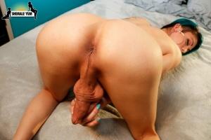 Stunning Amateur Shemale Masturbating